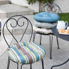 seat cushions for outdoor metal chairs. coral coast ulani bistro outdoor round seat cushion - 16 in. those chairs are as cute they uncomfortable. soften them up in style with the cushions for metal