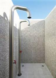 coastal outdoor patio shower ideas