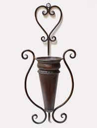 large metal wall vase or scone perfect