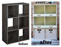 laminate furniture makeover. Before And After Of A Laminate Storage Cube Makeover At Refreshrestyle.com Furniture T