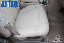 2000 2002 chevy tahoe suburban lt ls z71 leather seat cover passenger bottom tan