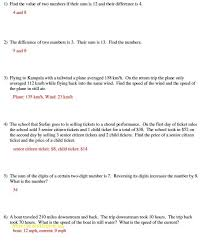 solving word problems using systems of equations worksheet answers also equations word problems worksheet choice image