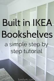 built ins from ikea billy bookcases