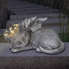 exhart sleeping cat with angel wings