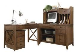 home office set. liberty hearthstone writing desk home office set in rustic oak