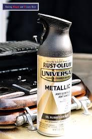rust oleum universal metallic spray paint