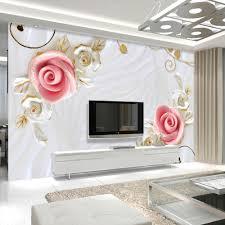 Wall Mural For Living Room High Quality Custom Wall Mural 3d Stereoscopic Embossed Flower