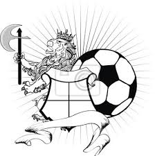 Fototapeta Lev Heraldický Erb Lev Zbraně Tetování Fotbalový Míč