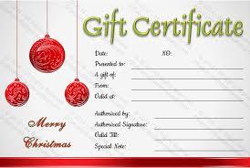 Free Christmas Gift Certificate Template Printable