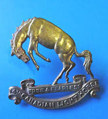 Canadian Light Horse Ww2 14th Canadian Light Horse Cap Badge Canadian Army