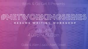 Networkingseries Resume Writing Workshop State Allen Groups