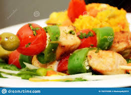 Presentation Foods Cuban Food With Brillants Colors Stock Photo Image Of