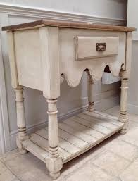 Rustic Kitchen Sideboard Pine Cream Sideboard Hall Console Table Open Dresser Base Kitchen Unit