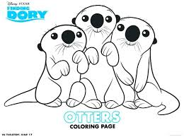 Ravenclaw Coloring Pages Otter Coloring Page Finding Dory Otters