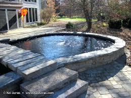 how to build a koi pond diy koi pond above ground how to build a small