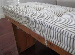 Burlap Bench Cushion Design Home Decoration Gallery