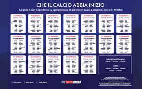 Calendario di Serie A completo: tutte le giornate
