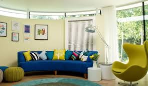 view in gallery a curved blue sofa in a contemporary living room blue living room furniture ideas