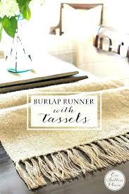 burlap round table runner wedding