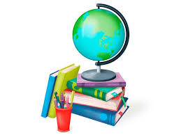 Image result for cartoon books and globe