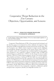 2 Cooperative Threat Reduction In The 21St Century: Objectives ...