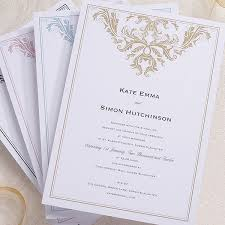Baroque Wedding Invitations Baroque Invitation Confetti Co Uk
