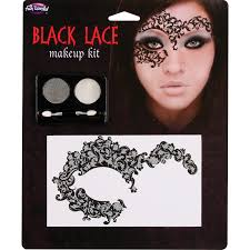 details about women s black lace carnival festival face mask sticker eye shadow costume makeup