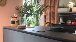 interior design of furniture. The All-black Kitchen Was A Very Popular Look, Especially When Paired With Indoor Interior Design Of Furniture