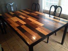 Handmade kitchen table. Scandal inspired! Stained 1x4 in 4 colors. Used 12  ft