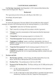 Vehicle sales agreements, like general purpose sales agreements, in the united states are generally subject to both federal law and specific how to modify the template. 13 Sample Car Purchase Agreement Templates In Pdf Ms Word