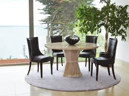 chic dining room furniture round wood transitional gray laminated brass mango extendable medium white marble table