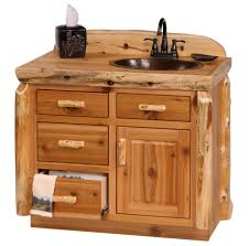 Rustic Bathroom Vanities And Sinks Rustic Log Bathroom Vanity Log Cabin Vanity Pine Log Furniture