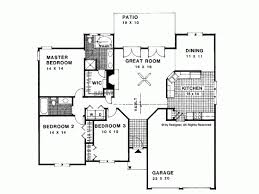 Small Picture Ranch House Plan with 1500 Square Feet and 3 Bedrooms from Dream