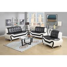 leather sofa sets. Perfect Sofa Wanda 3Piece Modern Bonded Leather Sofa Set Intended Sets