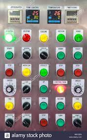 close up industrial control panel Stock Photo - Alamy