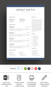Resume Template Word Modern Clean Cv Standardreadyprintcrafted