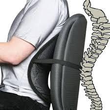 cool office gear. Black Cool Air Back Mesh Lumbar Home Office Car Seat Chair Support Gear