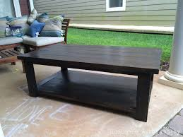 Rustic X Coffee table (but without the x)