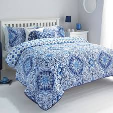 blue and white bedspread. Contemporary White Picture 4 Of With Blue And White Bedspread