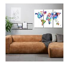 Colorful Planisphere Wall Canvas - ArtWall and Co