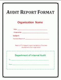 report formats in word audit report format template