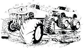 Coloring Pages Trucks Grave Digger Colouring Pages Monster Trucks