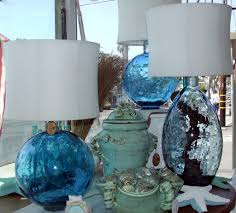 blue glass lamp. Elegant Light Blue Glass Lamp Body Design With Amazing White Deep Drum Shades And Fluorescent Desk Home Decorating Ideas