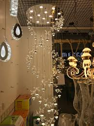 New Modern Chandelier Led Crystal Lamps Long Pendant