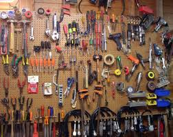 The first benefit of pegboard is obvious--it allows you to see everything  in your collection at once.