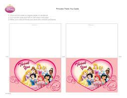 Disney Princess Thank You Cards Disney Family