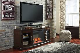 R  Large Chanceen TV Stand With Fireplace  Rollover