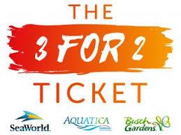 busch gardens ticket. Simple Busch The 3 For 2 Ticket  SeaWorld Aquatica And Busch Gardens On E