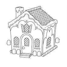 Small Picture Christmas Gingerbread House and the Chimney Coloring Page