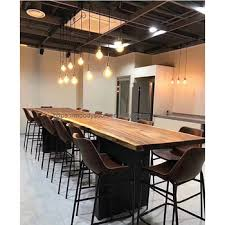 industrial furniture style. Industrial Modern Style Furniture Solid Black Walnut Slab Wood Table Live  Edge Top For Industrial